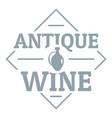 antique wine logo simple gray style vector image vector image