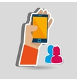 app mobile design vector image vector image