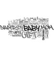 baby shower gifts that mom will love text word vector image vector image