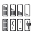 Battery charge level indicators set vector image vector image