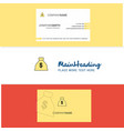 beautiful money bag logo and business card vector image vector image