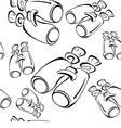 Black and white contour binoculars seamless vector image