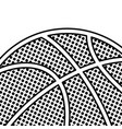 black dotted basketball background vector image vector image