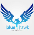 blue hawk vector image vector image