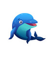 bottlenose dolphin cute underwater animal isolated vector image