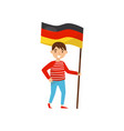 boy holding national flag of germany design vector image