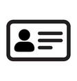 card icon male user person profile avatar symbol vector image vector image