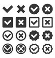 checkbox icon set vector image vector image