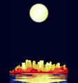 city under a pale moon vector image vector image