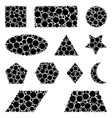 dotted geometric figures set isolated on white vector image vector image