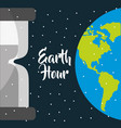 earth hour international event ecology safety vector image