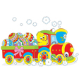 Easter Chick on a train vector image vector image