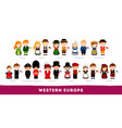 europeans in national clothes western europe vector image vector image