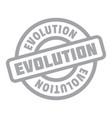 evolution rubber stamp vector image vector image