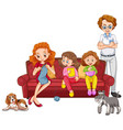 family members with parents and kids on white vector image