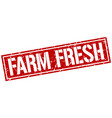 farm fresh square grunge stamp vector image vector image