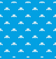 fast burger pattern seamless blue vector image vector image