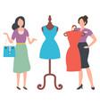 female buying dress shopper woman market vector image vector image