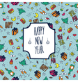 Festive pattern Happy New Year vector image vector image