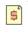 financial document icon design 48x48 pixel vector image