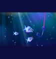 Fishing and wild predators blue background small