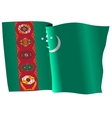 flag of Turkmenistan vector image