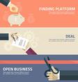Flat design concept for finding deal startup vector image