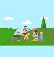 friends spending time together on summer vacation vector image vector image