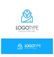 god greek mythology old blue outline logo place vector image