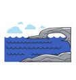 greek or cyprus mediaterranean sea cliff rock vector image vector image