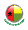 guinea-bissau flag button guinea-bissau flag icon vector image
