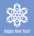 Happy new year paper snowflake on blue background