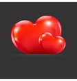 Hearts With Divider vector image