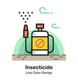 insecticide line color icon vector image