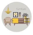 interior design logo vector image
