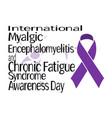 international myalgic encephalomyelitis and vector image vector image