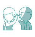 isolated cute partners vector image