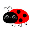 ladybug ladybird icon cute cartoon kawaii smiling vector image