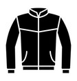 leather bomber jacket or coat flat icon vector image vector image