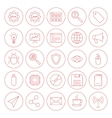 Line Computer Circle Icons vector image vector image