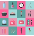 Make up flat icons vector image