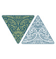 maori style ornament with koru elements vector image vector image