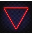 neon light triangular banner neon light vector image vector image