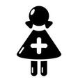 nurse icon simple black style vector image vector image