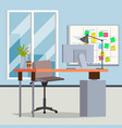 office interior modern workplace interior vector image