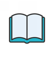Open Book Outline Icon vector image vector image