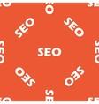 Orange SEO pattern vector image vector image