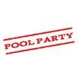 Pool Party Watermark Stamp vector image