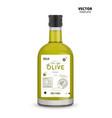 premium extra virgin olive oil glass bottle vector image vector image
