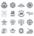 print service logo icons set simple style vector image